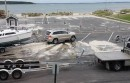 The pre-storm boat ramp chaos
