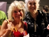 Playwrights Maggie Bloomfied and Susan Dingle at the opening night reception.