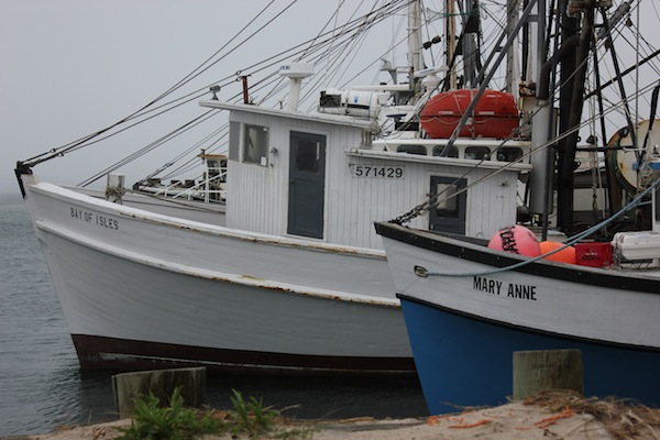 The Shinnecock fleet is in for the storm, Shinnecock Commercial Dock, Hampton Bays June 7